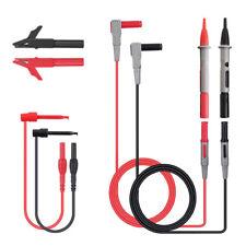 Cables de prueba KASUNTEST de 1000V y pinzas de cocodrilo 60V multímetro digital
