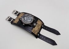steampunk watch leather watch.hand made. one of a kind.