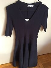 Brand New Carven Plaited Knit Dress in Navy, Size XL With Tags RRP $1004 AUD