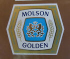 VINTAGE CANADIAN BEER LABEL - MOLSON BREWERY, GOLDEN BEER 341 ML