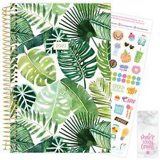 2021 Tropical Palms Calendar Year Daily Planner Agenda 12 Month Jan - December