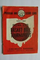 1953 OHIO High School Basketball Tournament Official Program, Cincinnati Gardens