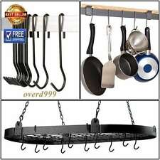 Hook Hanger Rack Cookware Pot Pan Utensils Gardening Tool Towel Kitchen Bathroom