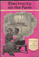 Electricity on the Farm Modern Kitchen Cover May 1933 Magazine