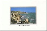 CARTOLINA SICILIA POSTCARD SICILY LICATA MARE SEA  SPIAGGIA DELLA MOLLARELLA
