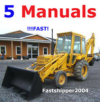 Ford 550 555 Backhoe Loader Tractors Service MANUAL OP Parts Catalogs 5 Manuals