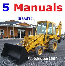 Ford 550 555 Backhoe Loader Tractors Service MANUAL OP Parts Catalogs 5 Manuals