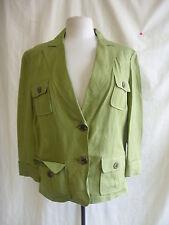 Cappotto donna-Bandolino, Taglia 16, colore verde, lino/rayon, Casual, usato - 0040