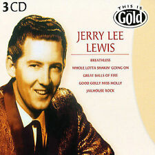 This Is Gold by Jerry Lee Lewis 3 DISC BOX SET NEW SEALED CD, Dec-2004, Disky)