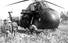 """Aviation - Algérie  - Hélicoptère Sikorski H34""""Pirate"""" armement expérimental"""