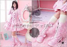 Punk Lolita 11-Hole Bows Studs Boots 10/10.5 PINK 43 2068