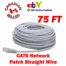 75FT (22.8M) CAT6 CAT 6 NETWORK CABLE RJ45 ETHERNET LAN PATCH WIRE FAST SHIPPING