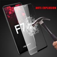 Full Cover 9H Tempered Glass Screen Anti-Fingerprint Protector Film For OPPO F7
