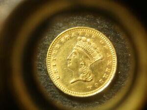 1884 AU BU  TY lll Three Gold $1.00 Dollar Rare Date Nice Coin WZX