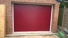 ROLLER GARAGE DOOR RED  77mm INSULATED FITTED Uk A+rated
