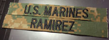 US Marines USMC Woodland Marpat MCCUU Name Tape Custom Made