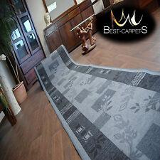 Runner Rugs, AGADIR grey, modern NON-slip, Stairs Width 67cm-120cm extra long