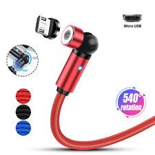 2.4A Cable Cargador USB MAGNÉTICO Tipo C Micro Android IOS 360 º +180 º de rotación Cable