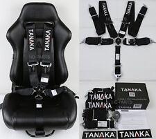 "1 TANAKA UNIVERSAL BLACK 5 POINT CAMLOCK RACING SEAT BELT HARNESS 3"" SFI 16.1"