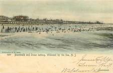 New Jersey, NJ, Wildwood by the Sea, Boardwalk, Ocean Bathing UDB pre-1907 RPPC