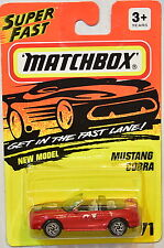 MATCHBOX 1996 NEW MODEL MUSTANG COBRA #71 RED