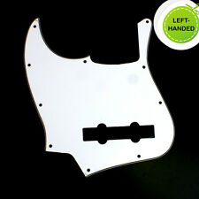 Left Handed Guitar Pickguard For Jazz Bass 5 String JB ,3ply White Closeout !!