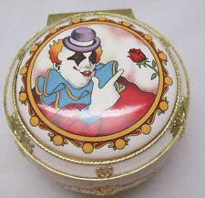 Vintage Music Box-Send In The Clowns Melodies Willitts Japan Clown Rose