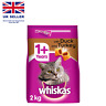 Whiskas 1+ Dry Cat Food for Adult Cats Kibble with Duck and Turkey, 2Kg UK