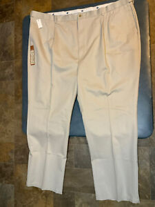 Haggar Men's Big & Tall 54 X 34 Khaki Classic Fit No Iron Dress Pants NWT