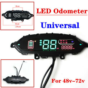 Electric Bicycle Scooter Meter Odometer Control Panel Dash Display For 48V ~ 72V