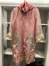 AGHA NOOR DESIGNER KURTA With DUPATTA ORANGZA PINK FLORAL EMBROIDERED  EID🌸