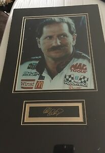 Dale Earnhardt SR Sealed NEW 8x10 photo W/ Lithograph Signature Total Size 11x17