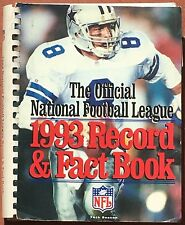 1993 OFFICIAL NFL FOOTBALL RECORD & FACT BOOK WITH COWBOYS TROY AIKMAN ON COVER