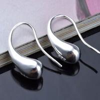 1 Paar Neu Mode schöne Ohrstecker Silber Ohrringe Tropfenform  Damen
