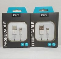 Core iPhone Charger Cable Apple Lightning USB Data cable iPhone 5, 5s, 6, 7, 8 +