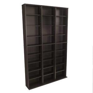 Atlantic Oskar Adjustable Media Wall-Unit - Holds 756 CDs, 360 DVDs or 414