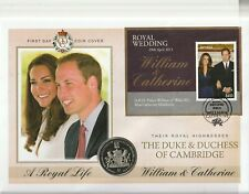 JAMAICA 29 APRIL 2011 ROYAL WEDDING MINIATURE SHEET COIN FIRST DAY COVER a