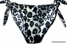 SEXY BLACK MIX SIDE TIE BIKINI BOTTOMS ~ SIZE 10 #408