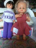 JOLI lot VINTAGE  = poupée bella  38cm et poupée mannequin  vintage habillées