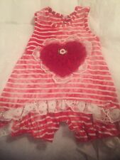 BOUTIQUE CACHCACH CACH CACH 3 Months M FANCY OUTFIT Red Heart White Lace Girls