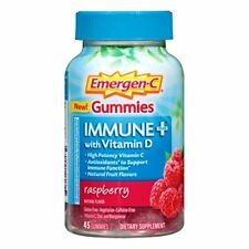 Emergen-C Gummies Immune Plus Vitamin D Raspberry 45 Gummies Each