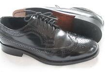 Men's Nunn Bush Dress Flex Black Leather Brogue Wing Tip Oxford Dress Shoes 8M