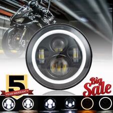 "7"" in LED Headlight Angle Eye Motorcycle For Yamaha V Star 1100 Classic XVS1100A"