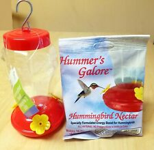 Hummingbird Hanging Bird Feeder with Nectar Food Package Garden New Wild Life