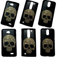 Fashion Vintage Bronze Skull Skeleton Hard Back Protective Case Cover for Phones
