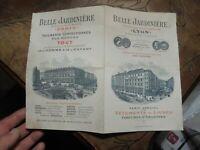 Ancien Dépliant des Grands Magasins Belle Jardinière Paris et Lyon fin XIXe