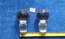 VINTAGE  / ANTIQUE GLASS DECANTER STOPPERS X 2 LARGE GOOD AND HEAVY