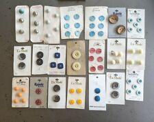 Lot of Vintage buttons - original cards-Wood, Resin, Plastic, Shell-Japan,France