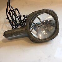GE VINTAGE LIGHT Spot Lamp Hand Flashlight STEAMPUNK Industrial Metal Bulb