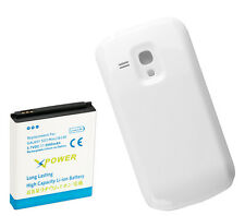 Long Life 3900mAh Extended Battery + Cover for Samsung Galaxy S3 Mini i8190 Wte